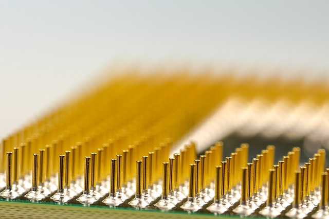 """closeup of a processing chip"""