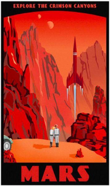 """Mars retro poster"""