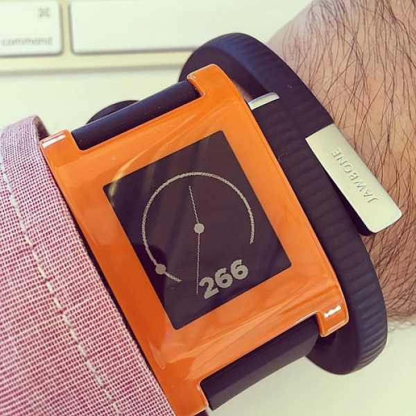 """""""Previous model of Pebble smart-watch."""""""