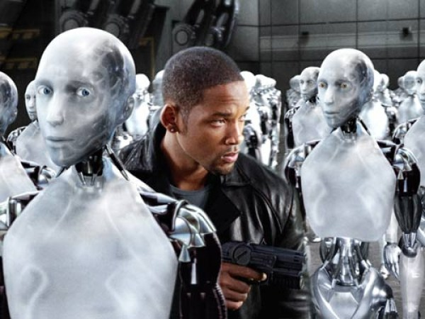 """still from the I,Robot movie featuring Will Smith"""