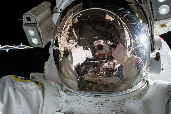 An astronaut in cosmos