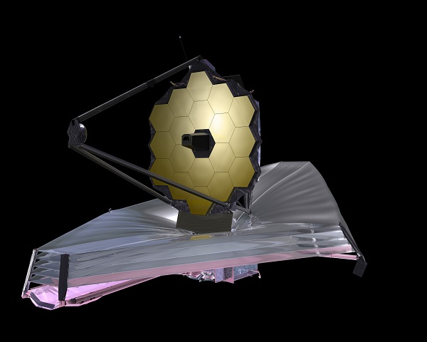 A scheme of the James Webb Space Telescope
