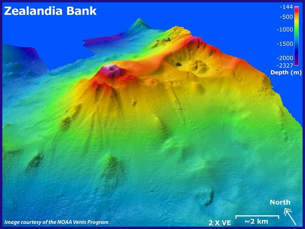 underwater map of the banks of zealandia