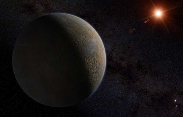 artist interpretation of the proxima centauri b planet