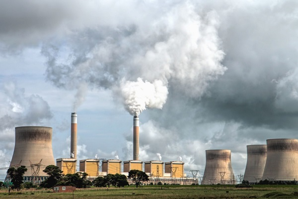 Air pollution from nuclear power plant