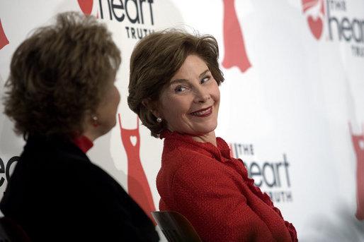 Heart disease survivor Laura Bush