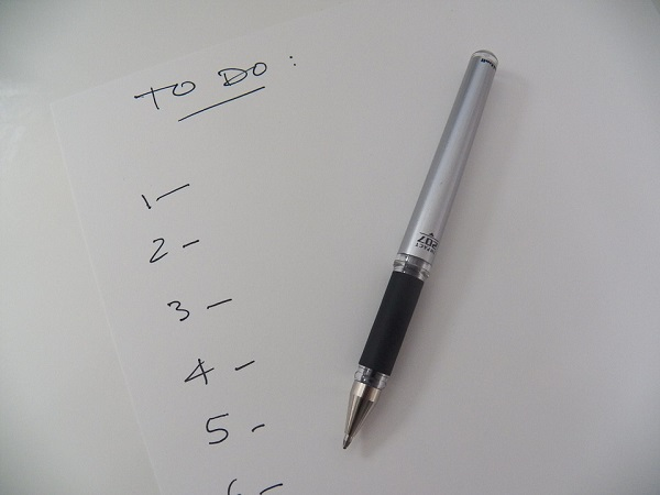 Blank to-do list
