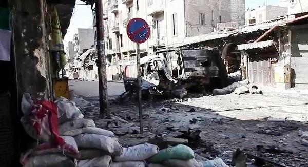 War-ravished Syrian city