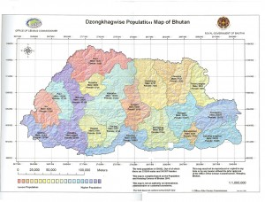 The truncated map according to municipalities and population