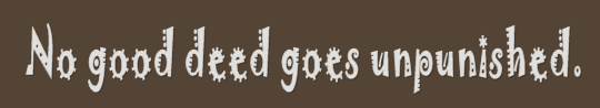image: no good deed