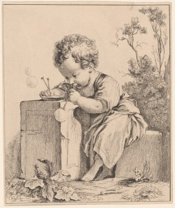 A Child Seated, Blowing Bubbles (1751) Jeanne Antoinette Poisson, Marquise de Pompadour (1721-1764) Courtesy of the New York Public Library Digital Collections