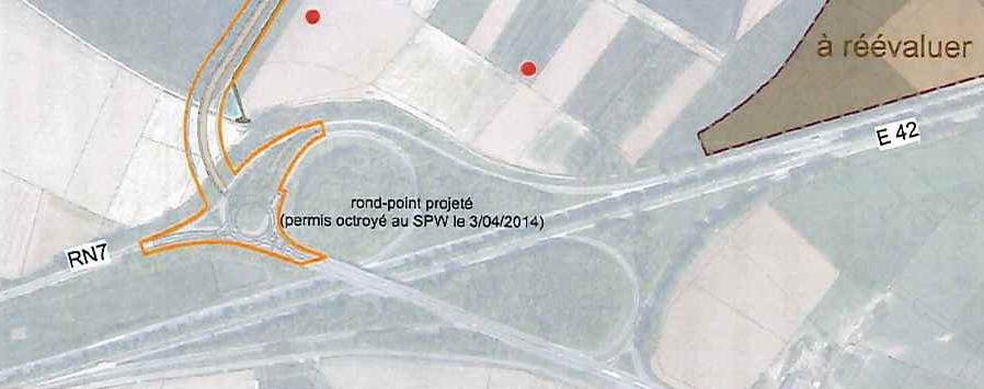 Autorisation pour un rond point à la jonction N7-A8 en 2014