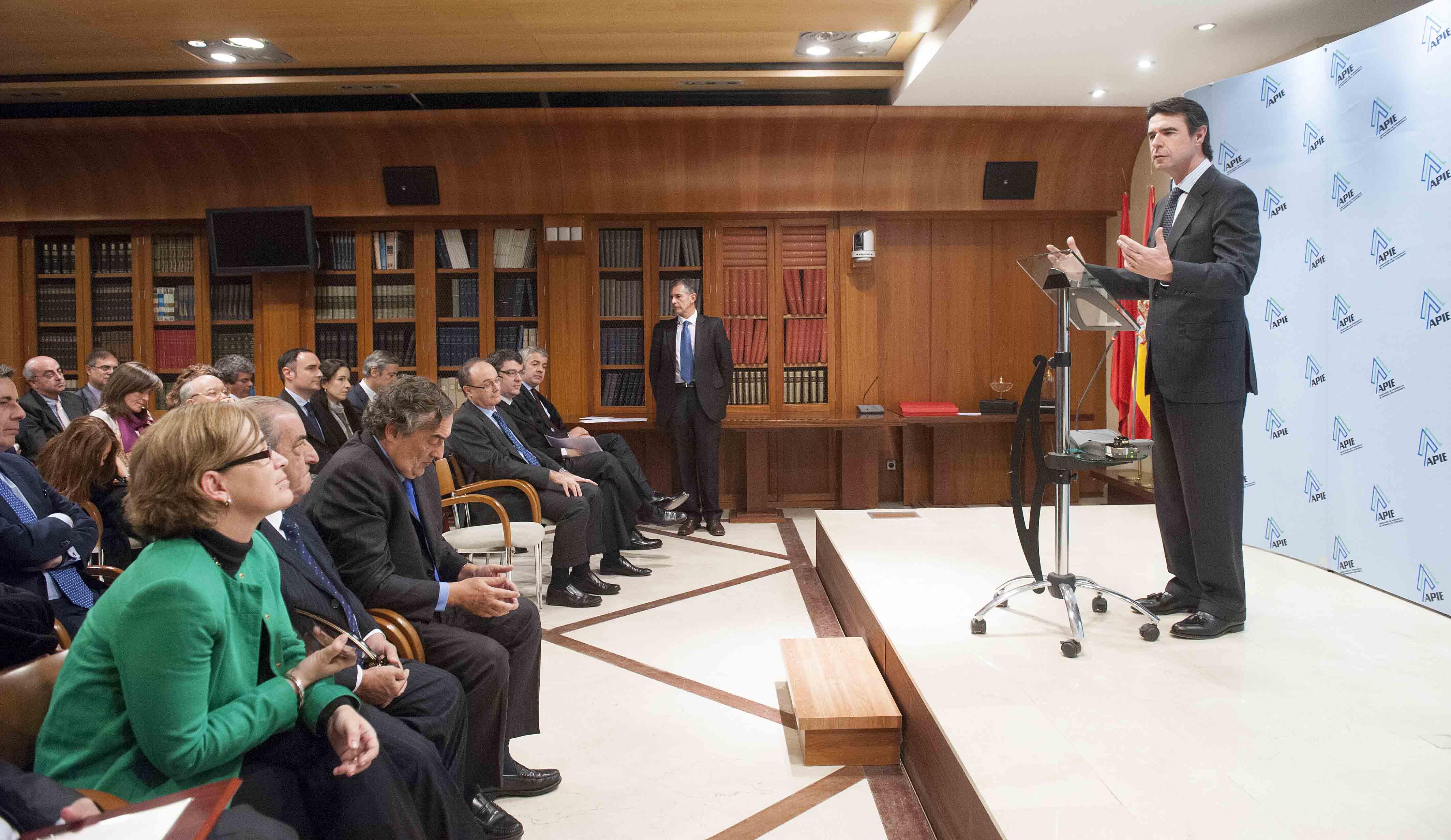 Un momento de las palabras de agradecimiento de Jose Manuel Soria, Ministro de Industria.