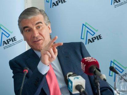 Francisco Reynes, Consejero Delegado de Abertis, durante el desayuno de prensa organizado por APIE.