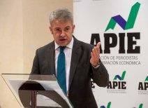 Javier García de la Vega, presidente de APIE, se dirige a los asistentes antes de comenzar la entrega de los Premios Tintero y Secante 2014.