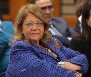 Elvira Rodríguez, Presidenta de la CNMV, durante la entrega de los premios de la APIE Tintero y Secante 2014.