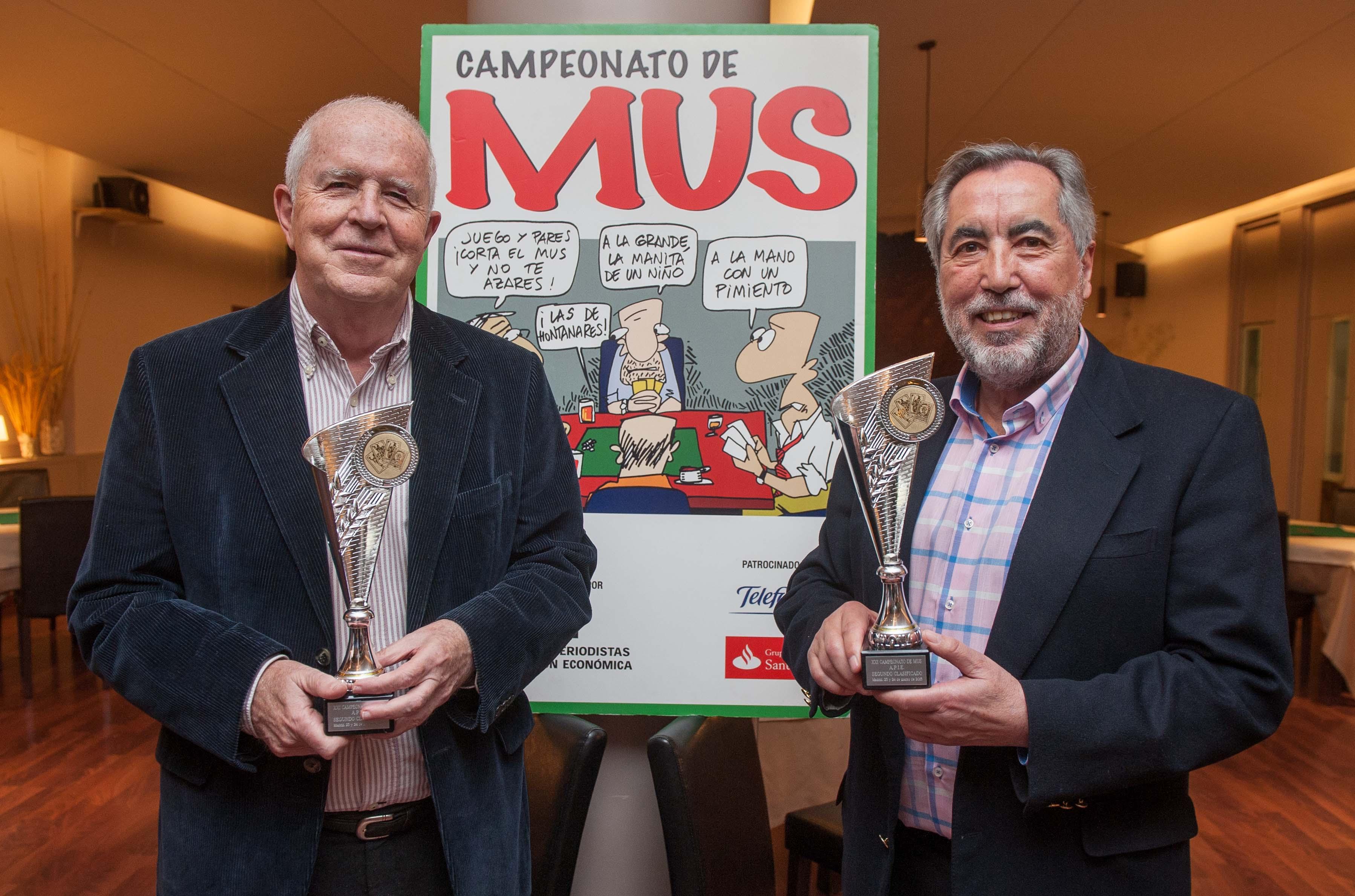 Paco Mora y Jaime Sanz, pareja ganadora del Segundo Premio.