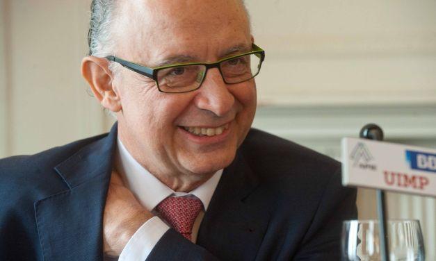 """Cristóbal Montoro: """"Soy parte de un Gobierno con el que se está limpiando la corrupción"""""""