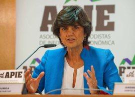 María Benjumea, fundadora de Spain Startups, durante la presentación organizada con la APIE de la feria de emprendedores South Summit 2015.