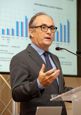 Fernando Restoy, subgobernador del Banco de España, durante su intervención en el curso de verano organizado por la APIE en la Universidad Menéndez Pelayo de Santander.