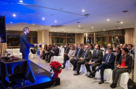 Iñigo de Barrón, presidente de APIE, en su discurso de presentación de los Premios Tintero y Secante 2016.