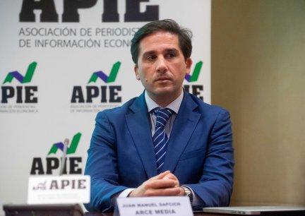 Juan Manuel Dapcich, CEO de Auditmedia, en un momento de la presentación del informe 12p sobre inversión publicitaria en medios.
