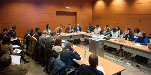 Un momento del debate sobre economía colaborativa organizado por la APIE en la XXX edición de su Curso de Economía para Periodistas.