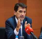 Rafael Doménech, Economista Jefe de BBVA, durante el debate sobre pensiones que tuvo lugar en la segunda jornada del Curso de Economía organizado por APIE.