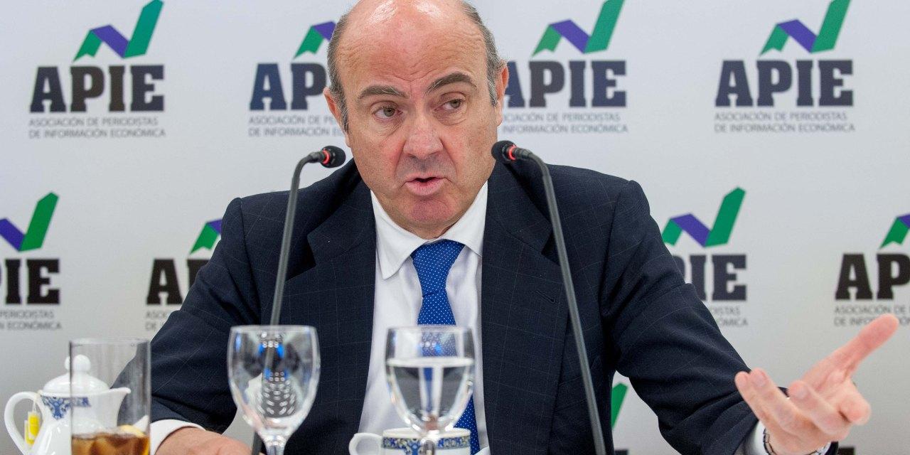 """Luis de Guindos: """"España seguirá creciendo al 2,5% durante varios años si no cometemos errores»"""