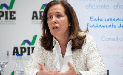 Cristina Aparicio, presidenta de ANGECO, en el desayuno de prensa organizado por APIE.