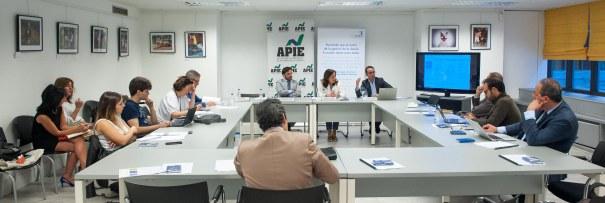 Una vista general del desayuno de prensa organizado por APIE con ANGECO y TDX Indigo.