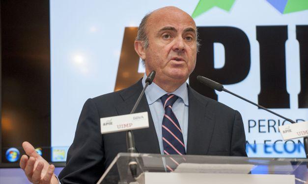 """Luis de Guindos: """"Sin el rescate bancario, España habría salido del euro"""""""