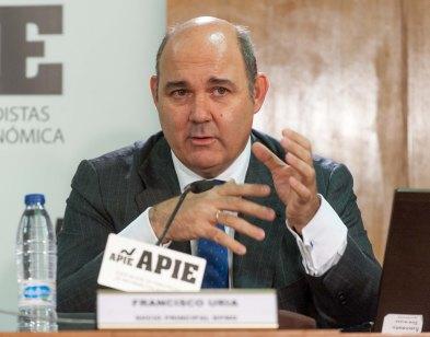 Francisco Uria, Responsable del Sector Financiero de KPMG en España, durante su intervención en la jornada sobre el Mecanismo Único de Resolución.