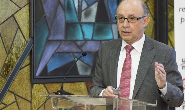 """Cristóbal Montoro: """"Estamos donde estamos gracias a la mayoría absoluta"""""""