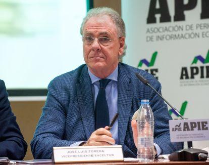 Jose Luis Zoreda, Vicepresidente de Exceltur, durante la presentación del informe celebrada en colaboración con la Asociación de Periodistas de Información Económica (APIE).