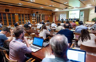Un momento de la presentación del informe de Exceltur sobre empleo en el sector turístico celebrada en colaboración con la Asociación de Periodistas de Información Económica (APIE).