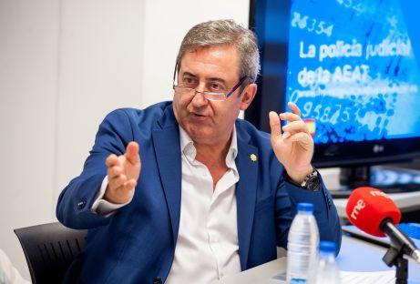Javier Zaragoza, Fiscal del Tribunal Supremo, durante la jornada sobre investigación aduanera y fiscal organizada por la APIE.