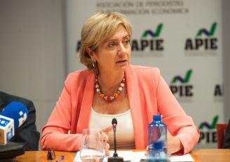 Marta Margarit, secretaria general de Sedigas, durante su intervención en la jornada del Curso de Economía de APIE dedicada al sector energético.