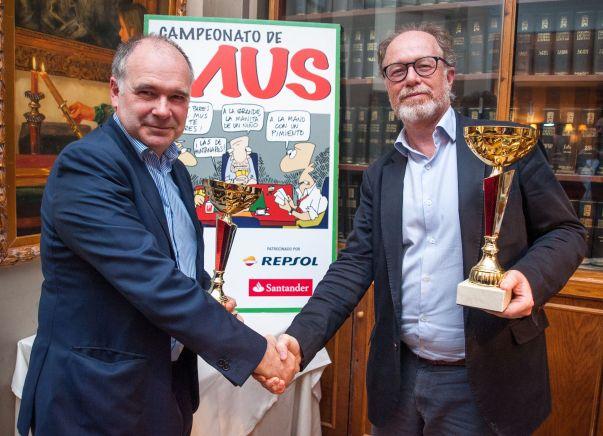 Iñaki Garay y Rodolfo García de la Rosa, ganadores de la XXV edición del Torneo de Mus de la APIE.