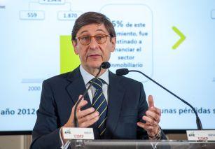 Jose Ignacio Goirigolzarri, presidente de Bankia, durante su intervención en el Curso de Economía organizado por la APIE en la UIMP.