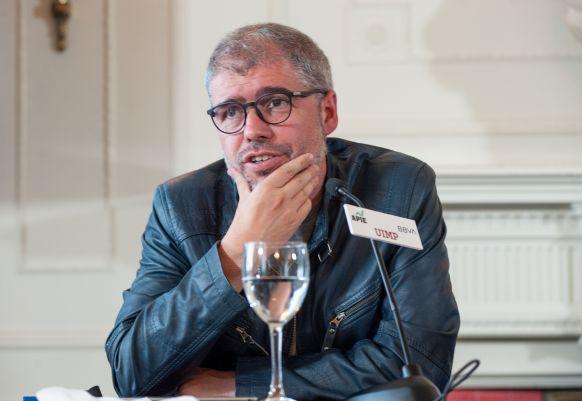 Unai Sordo, Secretario General de Comisiones Obreras, durante su intervención en el Curso de Economía organizado por APIE.