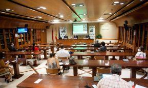 Un momento de la presentación del informe Transformación del Modelo Productivo Español, celebrada en formato presencial y telemático.