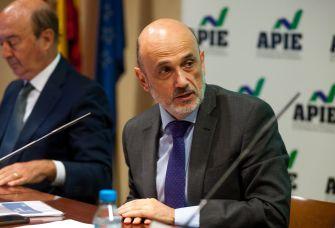 Manuel Pérez-Sala, Presidente del Círculo de Empresarios, durante la presentación de la Encuesta Empresarial Círculo 2021.