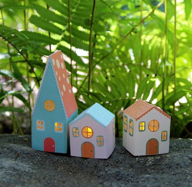apieceofrainbow paper houses 9 - DIY: Paper House Luminaries