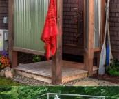 make outdoor shower