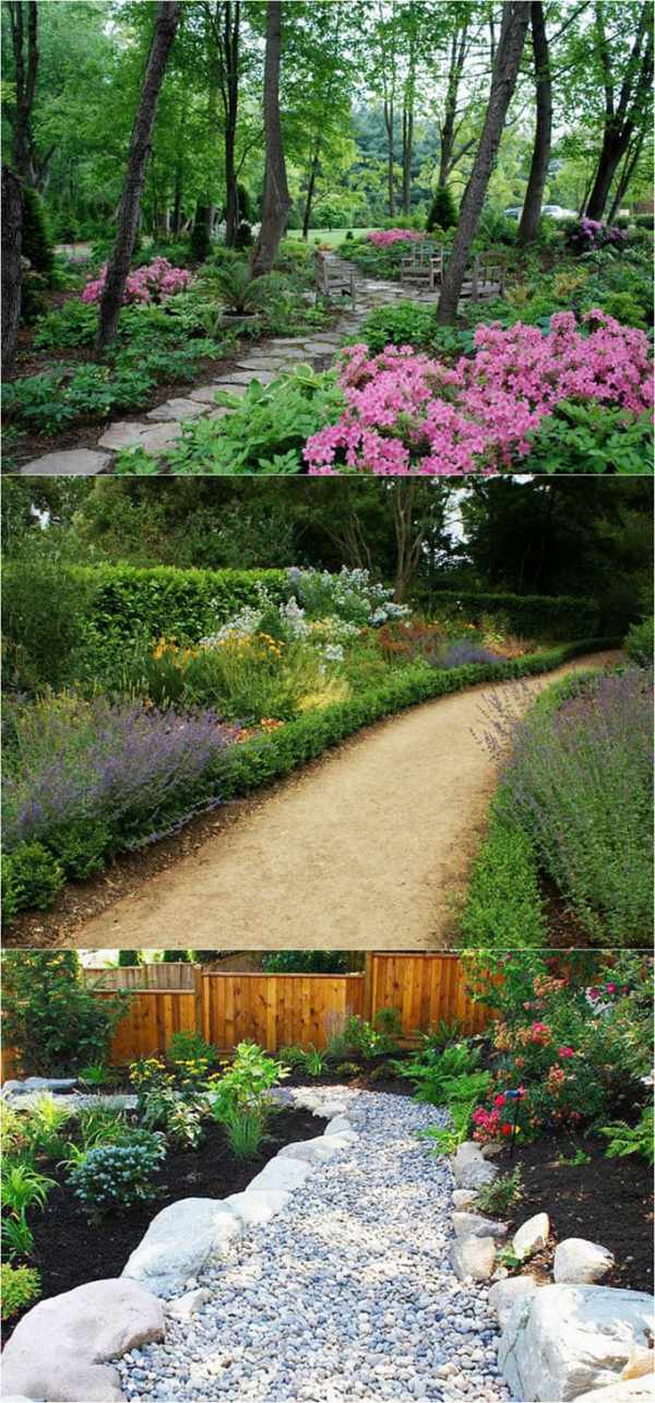 beautiful diy garden path