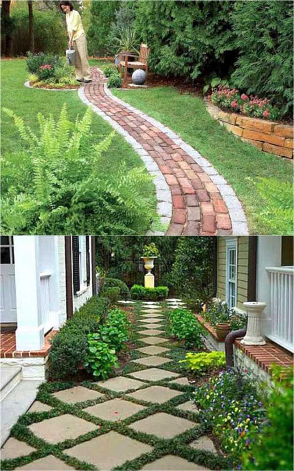 beautiful diy garden path