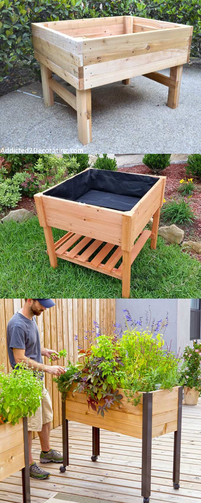 Building Raised Garden Pallets