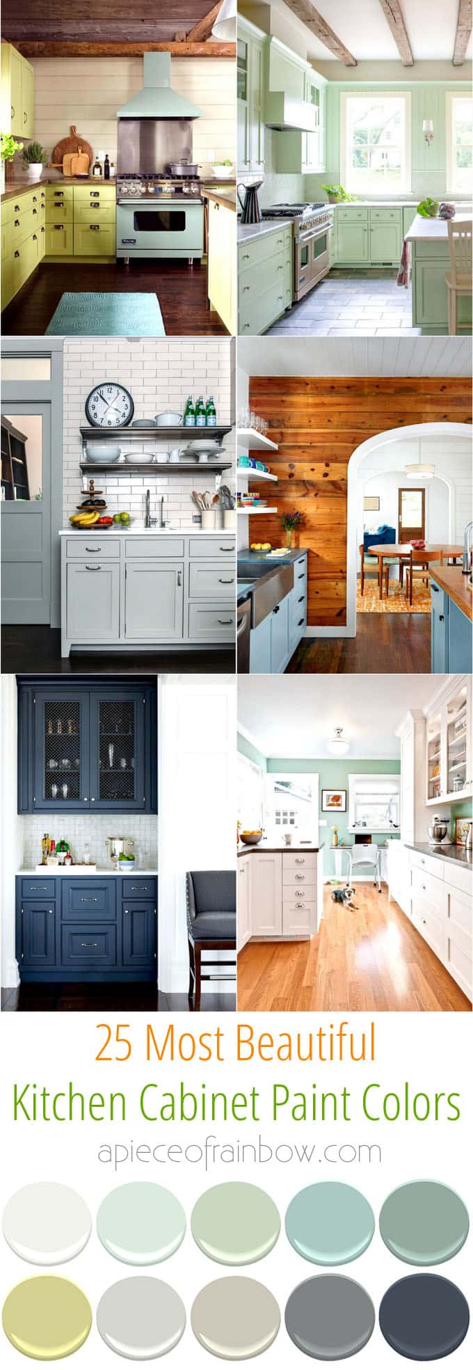 kitchen cabinets color repainting 25 gorgeous cabinet colors paint combos a piece of beautiful for apieceofrainbowblog