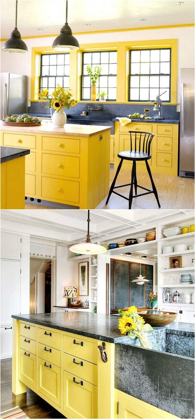 25 Gorgeous Kitchen Cabinet Colors  Paint Color Combos  A Piece Of Rainbow